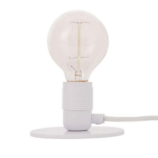 FRAMA E27 Bordslampa Vit