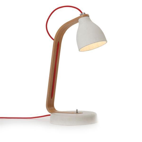 decode Heavy Desk Light Bordslampa Ljusgrå Betong med Ek