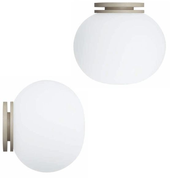 Flos Glo-Ball mini Vägg-/taklampa spegel