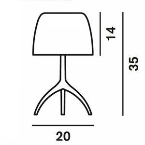 foscarini lumiere bordslampa piccola varm vit gratis frakt. Black Bedroom Furniture Sets. Home Design Ideas