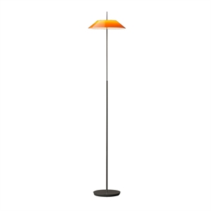 Vibia Mayfair Golvlampa Blank Orange och Svart