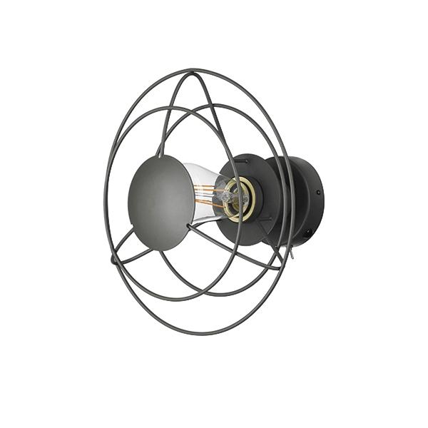 WATT A LAMP Radio Vägglampa Liten Mörkgrå