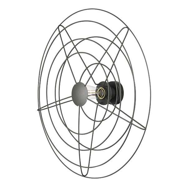 WATT A LAMP Radio Vägglampa Stor Mörkgrå